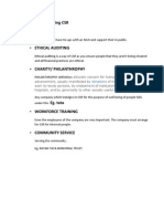 Ways of conducting CSR