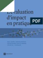 Impact Evaluation in Practice; L'évaluation d'impact en pratique