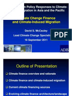 Climate Change Finance and Climate-Induced Migration by David McCauley, ADB