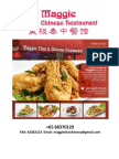 Maggie Thai & Chinese Restaurant Menu