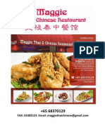 Maggie Thai & Chinese Restaurant Menu