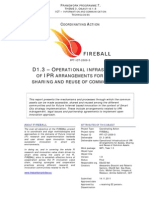 D1.3 Operational Infrastructure of IPR Arrangements for Access, Sharing and Reuse of Common Assets