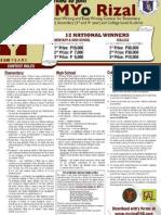 PreMyo Rizal Contest Rules