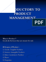 Introductory to Product Management