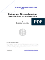 African and African-American Contribution to Maths