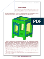 Wooden Insect Cage Plan