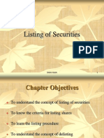 S&PM PPT Ch 5Listing of Securities