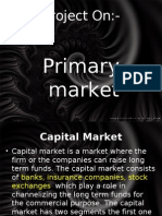 Project on Primary Mkt