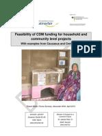 Feasibility Household CDM Atmosfair Draft