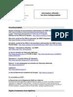 Liens indispensables en documentation administrative