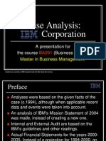 IBM Corporation a Case Analysis