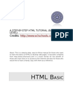 25361752 Step by Step HTML Tutorial Basic