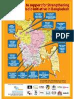 Map of Community Radios and Logos in Bangladesh