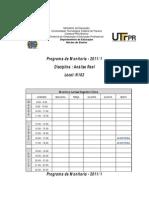 Horarios Bolsa Monitoria 2011-1 - Atualizados 2
