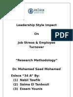 Leadership Style and Job Stress