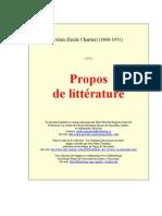(french) Alain (Emile Chartier) - Propos  de littérature