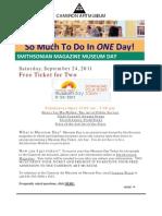 Smithsonian Magazine Museum Day - Sat. September 24