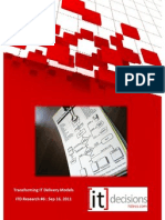 ITD #6 16 Sep 2011 | Transforming IT delivery models