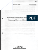 Jeol App. Note - SM43 - Specimen Preparation Methods for Scanning Electron Microscopes