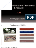 Presentation IMDR