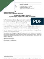 Tomada Inaugura Nueva Sede Regional Pampeana y Tandil