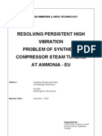 Resolving High Vibration Problem of a Sythesis Gas Compressor's Turbine