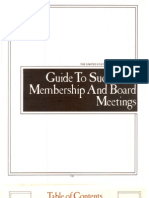 Guide to Successful Members Hi and Board Meetings