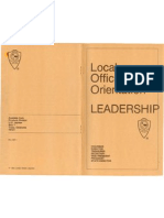 Local Officer Orientation