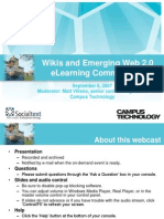 Wikis and Emerging Web 2.0 Elearning Communities 91307