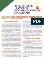 United States Jaycees Community Development Programs