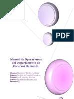Manual de Operaciones Del Depart Amen To de Recursos Humanos Nuevo
