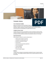 Computer Literacy Data Sheet English