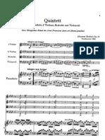 Brahms Piano Quintet in F Minor Op34 Full Score