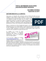 Campaña en redes sociales - Matrimonio igualitario - colombia diversa 2011