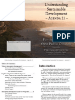 Sustainable Development Agenda 21 booklet