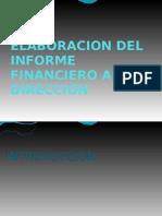 Elaboracion Del Informe Financiero a La Direccion