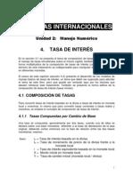 Finanzas Internacionales - Tasa de Interes