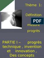 diaporama-définition et mesure du progrès technique 2008-2009