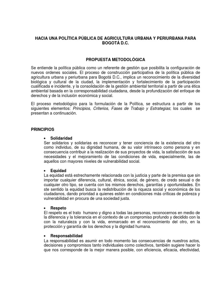 Propuesta a Politica de Agricultura Urbana Julio 14[1]