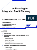 From Sales Planning to Integrated Profit Planning