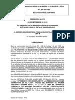 Resolucion de Adjudicacion de Contrato-redes-2011