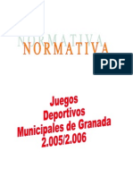 Normativa J.D.M. 2005-2006
