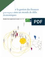 Réponses sur la gestion des finances publiques dans un monde de défis économiques