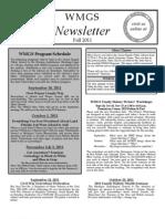 Fall 2011 WMGS Newsletter