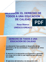 Rosa Blanco (OREALC-UNESCO) INCLUSIÓN