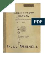 Us Navy Usmc Landing Party Manual h2h 1960
