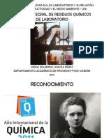 GESTIÓN INTEGRAL DE RESIDUOS QUÍMICOS DE LABORATORIO- UNI (JORGE LOAYZA)