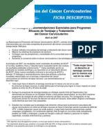 ACCP Recs 2007 Factsheet Spanish