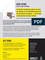 Act Now for Htay Kywe (Amnesty International)
