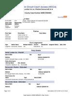 Wisconsin Civil Case 2008CV000463